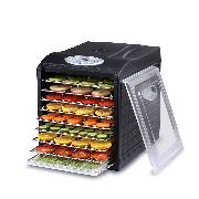 "Samson ""Silent"" 9 Tray Dehydrator with Digital Controls  9 Stainless Steel Trays  Quiet and Convenient"