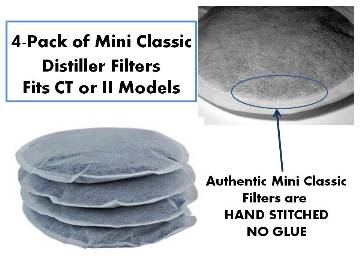 Replacement Carbon Filters - 4 Pack Mini Classic II or Mini Classic CT
