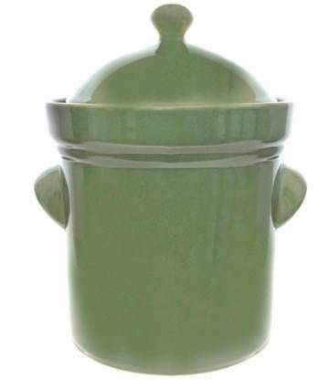 Boleslawiec 5 Litre GREEN COLORED Polish Crock MAIN