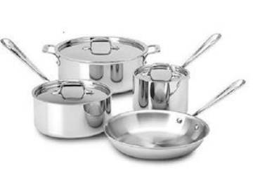 3-Ply Stainless Steel 7-piece cookware set by Miracle Exclusives. MAIN