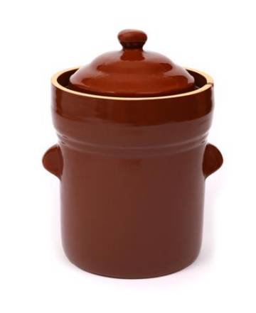 Boleslawiec Polish 5 Litre Light Brown Polish Crock MAIN