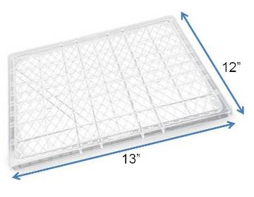 "Samson 12"" x 13"" Plastic Drying Tray MAIN"