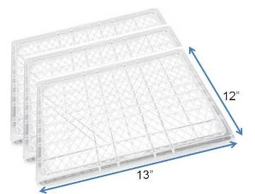 "Samson 3-PACK of 12"" x 13"" Plastic Drying Tray MAIN"