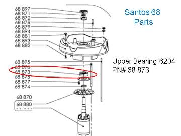 Santos 68 MJ868 Commercial Juicer Parts