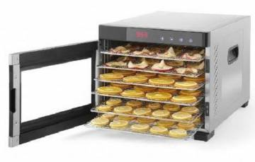 Samson Silent Dehydrator 6 Tray STAINLESS BODY Glass Door MAIN