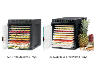 Tribest Sedona Express Food Dehydrator Stainless or Plastic Trays   Models -  SDE-S6780-B (Stainless Steel Trays)  SDE-S_MAIN