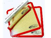 3-Pack Silicone 11.7 x 10.7 Non-Stick Dehydrator Sheets - Samson & Aroma THUMBNAIL