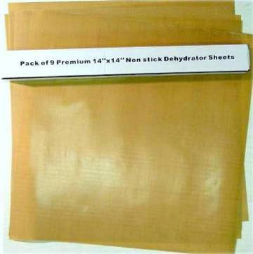 "Teflon non-stck sheets for  Dehydrators Fits 5 and 9 Tray Models  Teflon non-stick sheets 11"" x 14"" These are not made b"