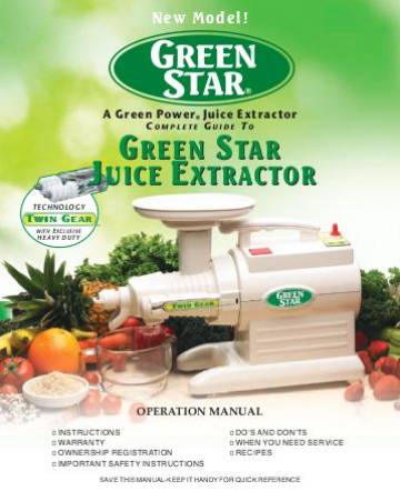 OPERATIONS MANUAL for Green Star Models GS1000, GS2000, GS3000 MAIN