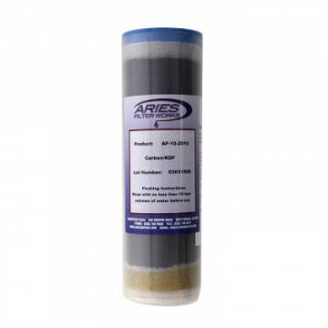 "Aries AF-10-2010 Carbon (GAC) KDF55 Filter Cartridge  Size is 3""x10"" MAIN"