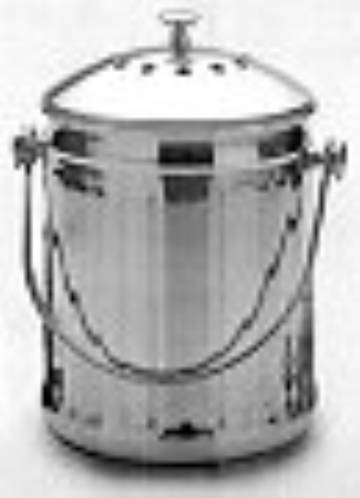 RSVP Stainless Steel Compost Pail MAIN