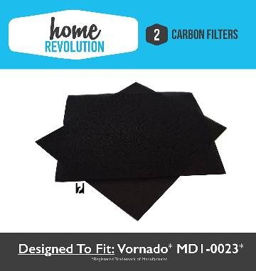 Vornado MD1-0023 Replacement Carbon Filters   (2 Filters in Package)   Fit AC300  & AC500 Air Purifiers  By: Home Revolu