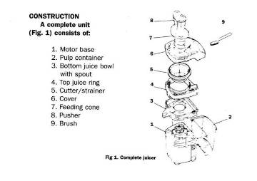 Miracle MJ1000 JUICER FEEDING CONE MJ1007 MAIN