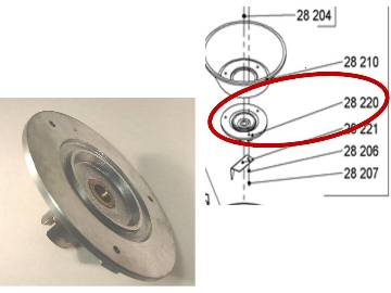 Replacement basket for a Miracle MJ800 or Santos 28 Centrifugal Juicer.  This does not include the Blade. MAIN