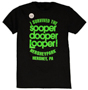 Hersheypark sooperdooperLooper Black Glow in the Dark Adult T-shirt THUMBNAIL