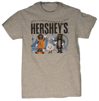 Hersheypark Little Bit of Hershey's Adult Gray T-shirt LARGE