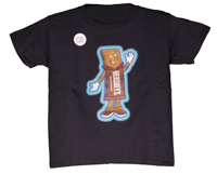 Hersheypark Character Hershey Bar Glow in the Dark Youth T-shirt LARGE