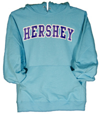 Hershey Scuba Blue Adult Hooded Sweatshirt LARGE