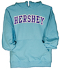 Hershey Hooded Adult Sweatshirt Scuba Blue THUMBNAIL