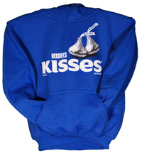 Kisses Brand Youth Hooded Sweatshirt LARGE