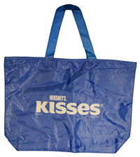 Hershey's Kiss Brand Tote Bag, Light Blue LARGE