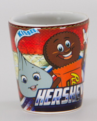 Hersheypark Character Americana Shot Glass 1.5oz LARGE