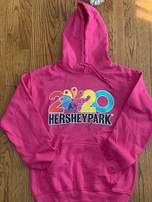 Hersheypark Adult 2020 Hooded Sweatshirt LARGE