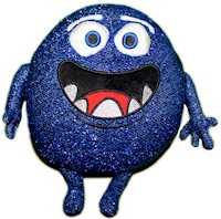 Cupfusion Gumdrop Plush, Blue LARGE