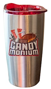 Candymonium Stainless Steel Travel Mug, 20oz LARGE