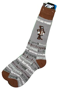 Hersheypark Bar Character Adult Socks LARGE