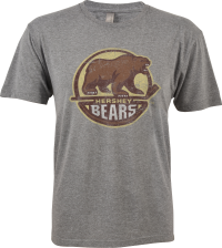 Hershey Bears Mens Distressed Primary Logo T-Shirt LARGE