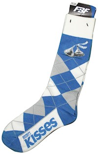 Kisses Brand Argyle Adult Socks LARGE