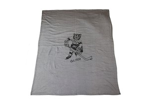 Hershey Bears Skating Bear Est. 1938 Blanket LARGE
