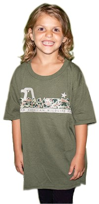 ZooAmerica Camo Youth T-Shirt LARGE