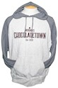Chocolatetown Heathered Hooded Adult Sweatshirt THUMBNAIL