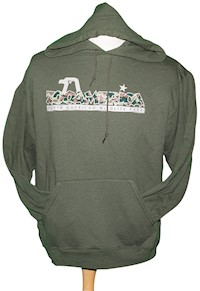 ZooAmerica Camo Hooded Adult Sweatshirt LARGE