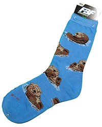 Sea Otter Adult Socks LARGE