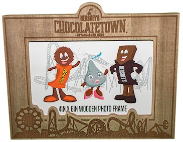 Chocolatetown Wood Grain Picture Frame, 4x6 LARGE