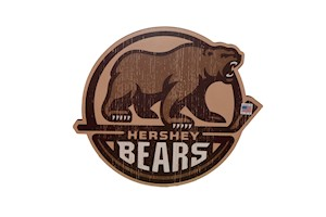 Hershey Bears Primary Logo Cutout Bar Sign LARGE