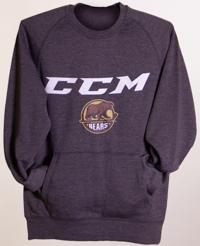 Hershey Bears Men s CCM Primary Logo Pocket Crewneck Sweatshirt ... aad552b4b