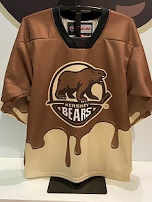 PRE ORDER: Hershey Bears Chocolate Drip Jersey 2020 LARGE