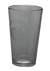 Hershey Bears 16oz Pint Glass Primary Logo LARGE