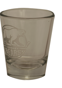 Hershey Bears Shot Glass Primary Logo LARGE