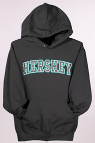 Hershey Adult Hooded Sweatshirt Charcoal LARGE