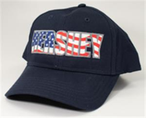 Hersheypark Hat with American Flag Detail LARGE