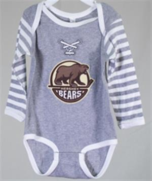 Hershey Bears Long Sleeve Laces Onesie LARGE