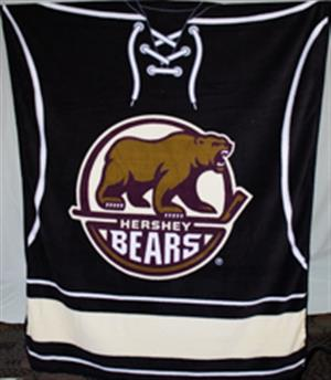 Hershey Bears Blanket Primary Logo Micro Fleece LARGE