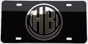 Hershey Bears License Plate Black/Silver THUMBNAIL