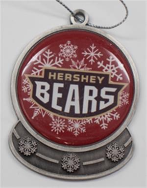 Hershey Bears Snowglobe Ornament LARGE