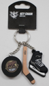 Hershey Bears Puck, Stick, and Skate Keychain THUMBNAIL
